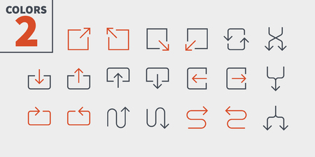 Arrows UI Pixel Perfect Well-crafted Vector Thin Line Icons.