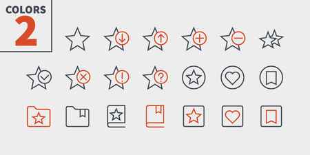 Bookmarks and Tags UI Pixel Perfect Well-crafted Vector Thin Line Icons. 版權商用圖片 - 100840988