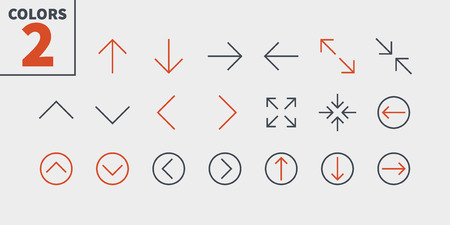 Control UI Pixel Perfect Well-crafted Vector Thin Line Icons. Illustration