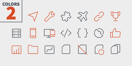 Settings UI Pixel Perfect Well-crafted Vector Thin Line Icons. Ready for Web Graphics and Apps with Editable Stroke.