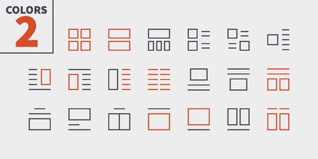 Layout UI Pixel Perfect Well-crafted Vector Thin Line Icons. Ready for Web Graphics and Apps with Editable Stroke. Ilustrace