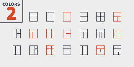 Layout UI Pixel Perfect Well-crafted Vector Thin Line Icons. Ready for Web Graphics and Apps with Editable Stroke. Illustration