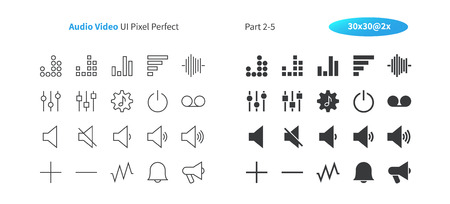 Audio Video UI Pixel Perfect Well-crafted Vector Thin Line And Solid Icons 30 2x Grid for Web Graphics and Apps. Simple Minimal Pictogram Part 2-5