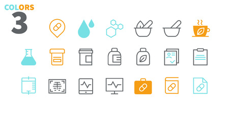 Medical UI Pixel Perfect Well-crafted Vector Thin Line Icons 48x48 Ready for 24x24 Grid for Web Graphics and Apps with Editable Stroke. Simple Minimal Pictogram Part 2-3 Illusztráció