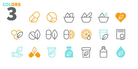 Alternative medicine UI Pixel Perfect Well-crafted Vector Thin Line Icons 48x48 Ready for 24x24 Grid for Web Graphics and Apps with Editable Stroke. Simple Minimal Pictogram Part 1-2 Archivio Fotografico - 102517456