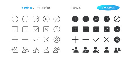 Settings UI Pixel Perfect Well-crafted Vector Thin Line And Solid Icons 30 2x Grid for Web Graphics and Apps. Simple Minimal Pictogram Part 2-6