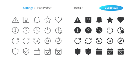 Settings UI Pixel Perfect Well-crafted Vector Thin Line And Solid Icons 30 2x Grid for Web Graphics and Apps. Simple Minimal Pictogram Part 3-6