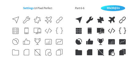 Settings UI Pixel Perfect Well-crafted Vector Thin Line And Solid Icons 30 2x Grid for Web Graphics and Apps. Simple Minimal Pictogram Part 6-6