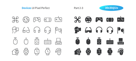 Devices UI Pixel Perfect Well-crafted Vector Thin Line And Solid Icons 30 2x Grid for Web Graphics and Apps. Simple Minimal Pictogram Part 2-3 Illustration