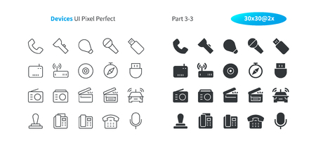 Devices UI Pixel Perfect Well-crafted Vector Thin Line And Solid Icons 30 2x Grid for Web Graphics and Apps. Simple Minimal Pictogram Part 3-3 Standard-Bild - 103243501