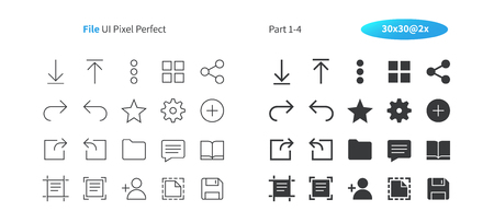 File UI Pixel Perfect Well-crafted Vector Thin Line And Solid Icons 30 2x Grid for Web Graphics and Apps. Simple Minimal Pictogram Part 1-4 Stock Illustratie