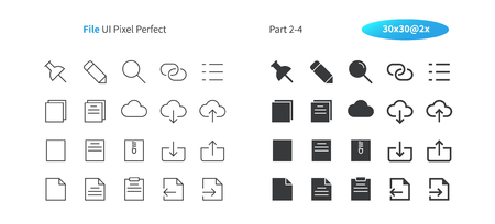 File UI Pixel Perfect Well-crafted Vector Thin Line And Solid Icons 30 2x Grid for Web Graphics and Apps. Simple Minimal Pictogram Part 2-4