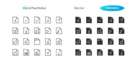 File UI Pixel Perfect Well-crafted Vector Thin Line And Solid Icons 30 2x Grid for Web Graphics and Apps. Simple Minimal Pictogram Part 3-4 Illustration