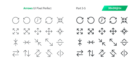Arrows UI Pixel Perfect Well-crafted Vector Thin Line And Solid Icons 30 1x Grid for Web Graphics and Apps. Simple Minimal Pictogram Part 3-5