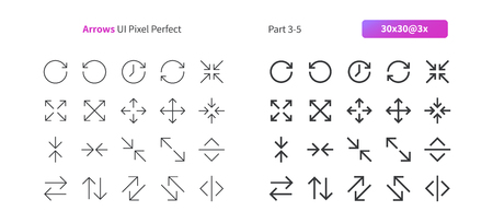 Arrows UI Pixel Perfect Well-crafted Vector Thin Line And Solid Icons 30 3x Grid for Web Graphics and Apps. Simple Minimal Pictogram Part 3-5 Illustration