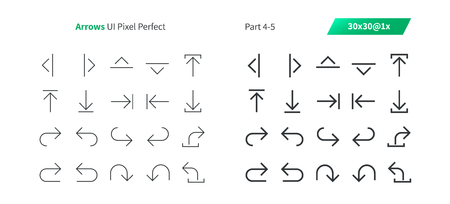 Arrows UI Pixel Perfect Well-crafted Vector Thin Line And Solid Icons 30 1x Grid for Web Graphics and Apps. Simple Minimal Pictogram Part 4-5