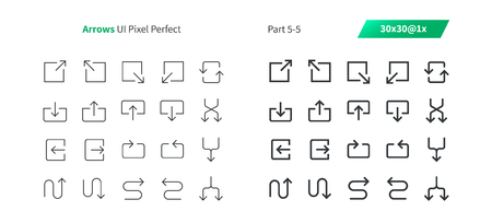Arrows UI Pixel Perfect Well-crafted Vector Thin Line And Solid Icons 30 1x Grid for Web Graphics and Apps. Simple Minimal Pictogram Part 5-5
