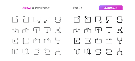 Arrows UI Pixel Perfect Well-crafted Vector Thin Line And Solid Icons 30 3x Grid for Web Graphics and Apps. Simple Minimal Pictogram Part 5-5