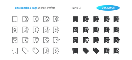 Bookmarks & Tags UI Pixel Perfect Well-crafted Vector Thin Line And Solid Icons 30 2x Grid for Web Graphics and Apps. Simple Minimal Pictogram Part 1-3