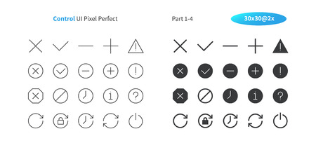 Control UI Pixel Perfect Well-crafted Vector Thin Line And Solid Icons 30 2x Grid for Web Graphics and Apps. Simple Minimal Pictogram Part 1-4