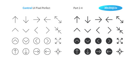 Control UI Pixel Perfect Well-crafted Vector Thin Line And Solid Icons 30 2x Grid for Web Graphics and Apps. Simple Minimal Pictogram Part 2-4