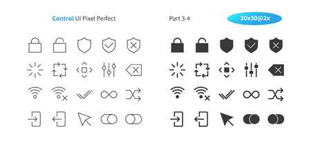 Control UI Pixel Perfect Well-crafted Vector Thin Line And Solid Icons 30 2x Grid for Web Graphics and Apps. Simple Minimal Pictogram Part 3-4