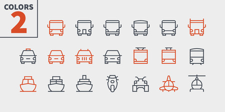 Transport Front View Outlined Pixel Perfect Well-crafted Vector Thin Line Icons 48x48 Ready for 24x24 Grid for Web Graphics and Apps with Editable Stroke. Simple Minimal Pictogram Part 1-1 Illustration