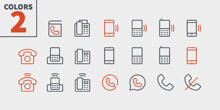 Phones UI Pixel Perfect Well-crafted Vector Thin Line Icons 48x48 Ready for 24x24 Grid for Web Graphics and Apps with Editable Stroke. Simple Minimal Pictogram Part 1-2 写真素材 - 115009884