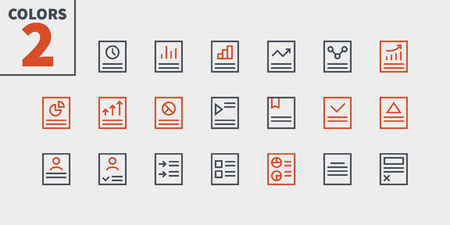 Report UI Pixel Perfect Well-crafted Vector Thin Line Icons 48x48 Ready for 24x24 Grid for Web Graphics and Apps with Editable Stroke. Simple Minimal Pictogram Part 1-3