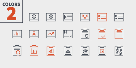 Report UI Pixel Perfect Well-crafted Vector Thin Line Icons 48x48 Ready for 24x24 Grid for Web Graphics and Apps with Editable Stroke. Simple Minimal Pictogram Part 2-3