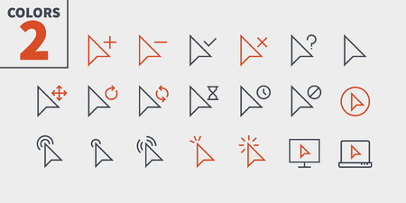 Selection & Cursors UI Pixel Perfect Well-crafted Vector Thin Line Icons 48x48 Ready for 24x24 Grid for Web Graphics and Apps with Editable Stroke. Simple Minimal Pictogram Part 2-3