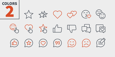 Emotions UI Pixel Perfect Well-crafted Vector Thin Line Icons 48x48 Ready for 24x24 Grid for Web Graphics and Apps with Editable Stroke. Simple Minimal Pictogram Part 4-5 Illustration