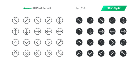Arrows UI Pixel Perfect Well-crafted Vector Thin Line And Solid Icons 30 1x Grid for Web Graphics and Apps. Simple Minimal Pictogram Part 2-5