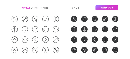 Arrows UI Pixel Perfect Well-crafted Vector Thin Line And Solid Icons 30 3x Grid for Web Graphics and Apps. Simple Minimal Pictogram Part 2-5