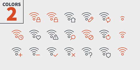 Network UI Pixel Perfect Well-crafted Vector Thin Line Icons 48x48 Ready for 24x24 Grid with Editable Stroke. Simple Minimal Pictogram Part 5-5 Archivio Fotografico - 106096510