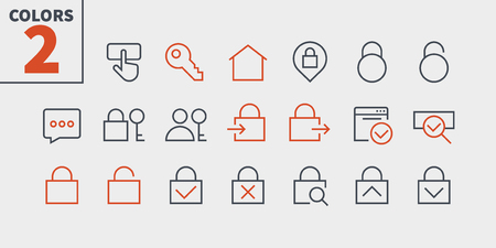 Login UI Pixel Perfect Well-crafted Vector Thin Line Icons 48x48 Ready for 24x24 Grid for Web Graphics and Apps with Editable Stroke. Simple Minimal Pictogram Part 1-3