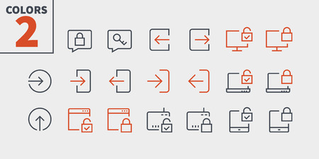 Login UI Pixel Perfect Well-crafted Vector Thin Line Icons 48x48 Ready for 24x24 Grid for Web Graphics and Apps with Editable Stroke. Simple Minimal Pictogram Part 3-3 Illustration