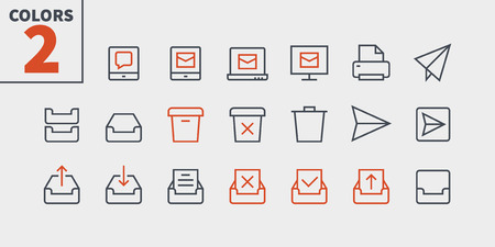 Email UI Pixel Perfect Well-crafted Vector Thin Line Icons 48x48 Ready for 24x24 Grid for Web Graphics and Apps with Editable Stroke. Simple Minimal Pictogram Part 2-5