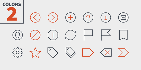 Email UI Pixel Perfect Well-crafted Vector Thin Line Icons 48x48 Ready for 24x24 Grid for Web Graphics and Apps with Editable Stroke. Simple Minimal Pictogram Part 3-5 写真素材 - 106096513