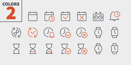 Time UI Pixel Perfect Well-crafted Vector Thin Line Icons 48x48 Ready for 24x24 Grid for Web Graphics and Apps with Editable Stroke. Simple Minimal Pictogram Part 2-2