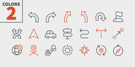Navigation UI Pixel Perfect Well-crafted Vector Thin Line Icons 48x48 Ready for 24x24 Grid for Web Graphics and Apps with Editable Stroke. Simple Minimal Pictogram Part 2-2 Ilustrace