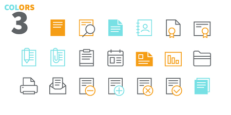 Documents Pixel Perfect Well-crafted Vector Thin Line Icons 48x48 Ready for 24x24 Grid for Web Graphics and Apps with Editable Stroke. Simple Minimal Pictogram Part 1-1