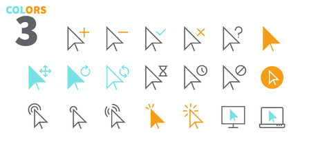 Selection & Cursors UI Pixel Perfect Well-crafted Vector Thin Line Icons 48x48 Ready for 24x24 Grid for Web Graphics and Apps with Editable Stroke. Simple Minimal Pictogram Part 1-3