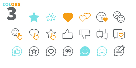 Emotions UI Pixel Perfect Well-crafted Vector Thin Line Icons 48x48 Ready for 24x24 Grid for Web Graphics and Apps with Editable Stroke. Simple Minimal Pictogram Part 4-5 Stock Illustratie