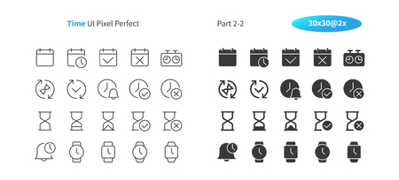 Time UI Pixel Perfect Well-crafted Vector Thin Line And Solid Icons 30 2x Grid for Web Graphics and Apps. Simple Minimal Pictogram Part 2-2