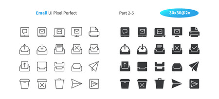 Email UI Pixel Perfect Well-crafted Vector Thin Line And Solid Icons 30 2x Grid for Web Graphics and Apps. Simple Minimal Pictogram Part 2-5 Ilustrace