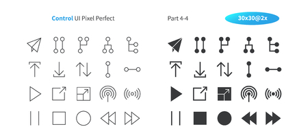 Control UI Pixel Perfect Well-crafted Vector Thin Line And Solid Icons 30 2x Grid for Web Graphics and Apps. Simple Minimal Pictogram Part 4-4