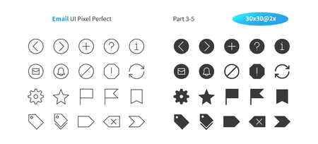 Email UI Pixel Perfect Well-crafted Vector Thin Line And Solid Icons 30 2x Grid for Web Graphics and Apps. Simple Minimal Pictogram Part 3-5