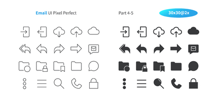 Email UI Pixel Perfect Well-crafted Vector Thin Line And Solid Icons 30 2x Grid for Web Graphics and Apps. Simple Minimal Pictogram Part 4-5