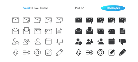 Email UI Pixel Perfect Well-crafted Vector Thin Line And Solid Icons 30 2x Grid for Web Graphics and Apps. Simple Minimal Pictogram Part 5-5 Illustration